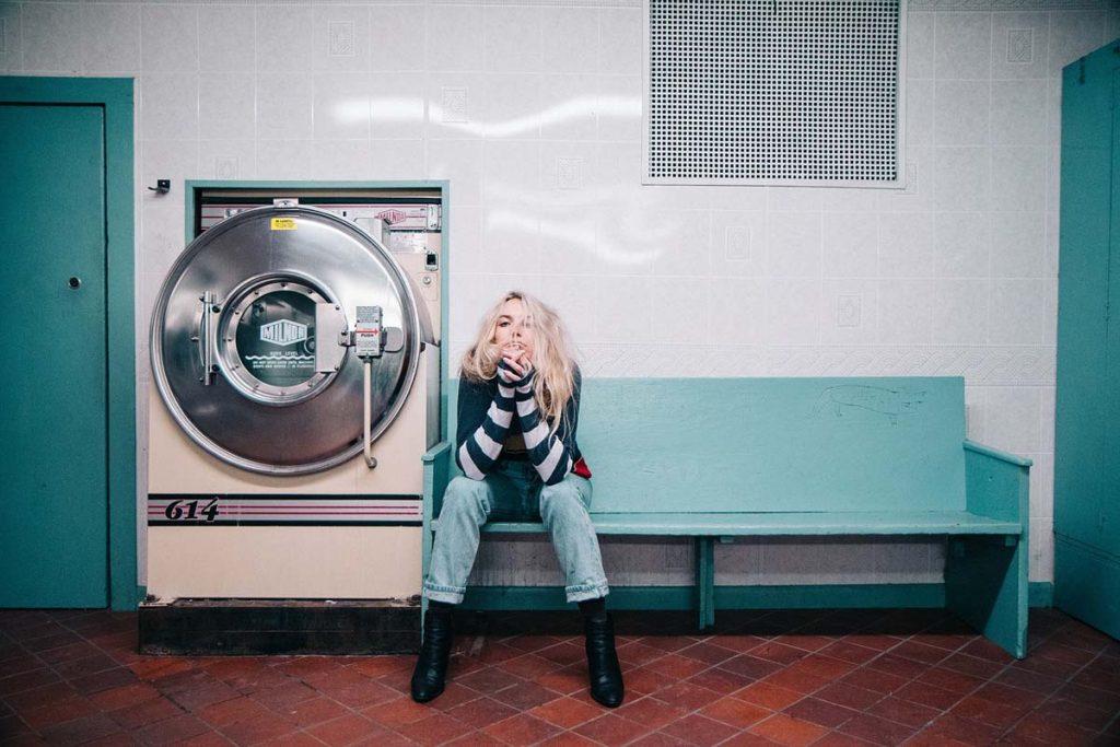 Waschsalon Jeanshose Frau