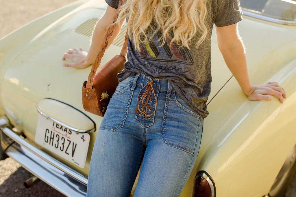 Schnürjeans Jeans Auto