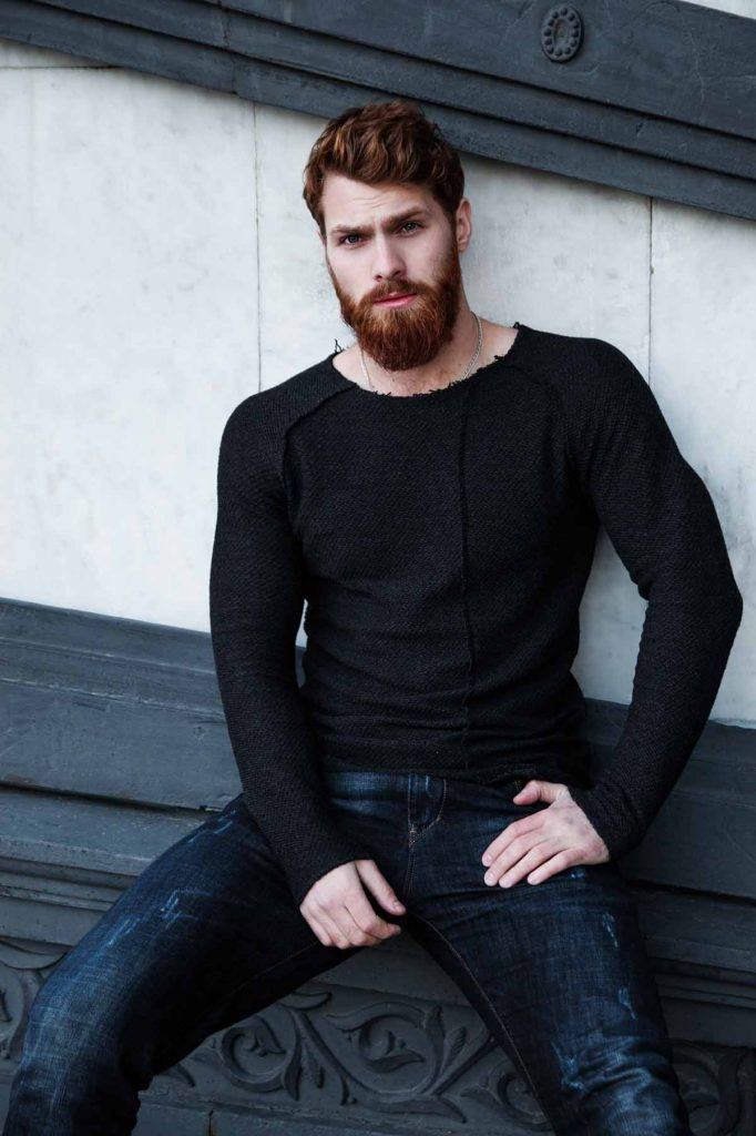 Jeanshose Herrenpullover Männerstyle