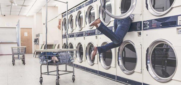 Waschmaschine Jeanshose Waschen