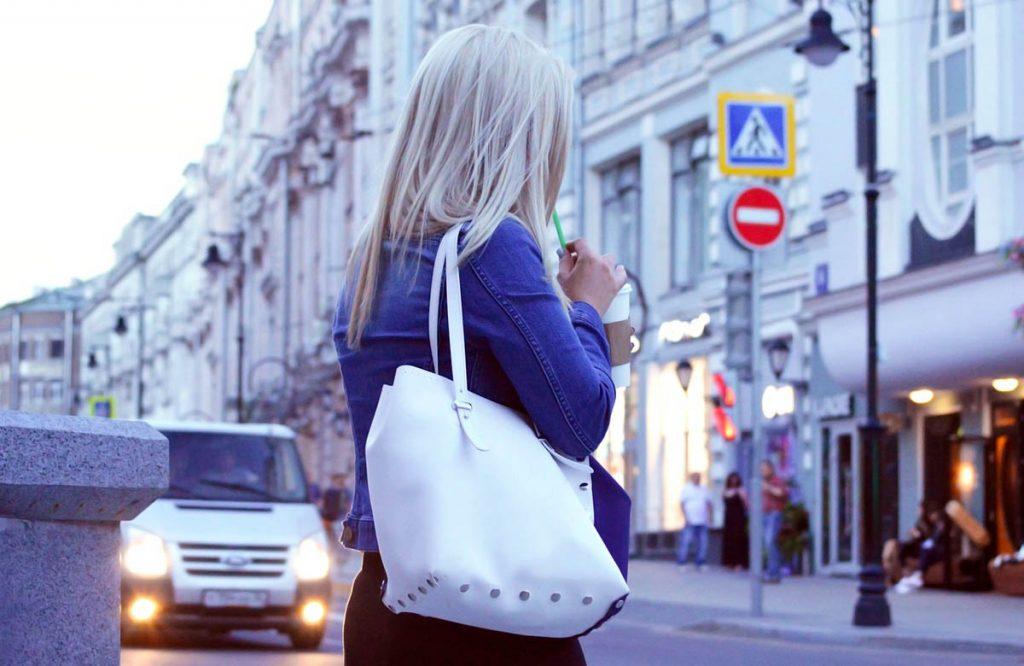 Jeansjacke Tasche Frau