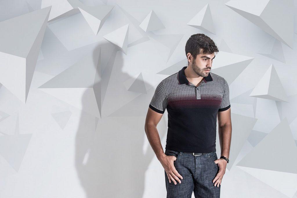 Stoffhose Shirt Mann