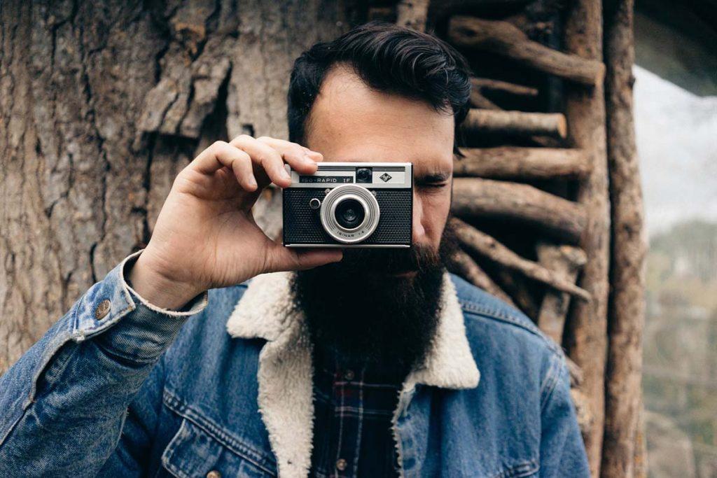 Kamera Jeansjacke Mann