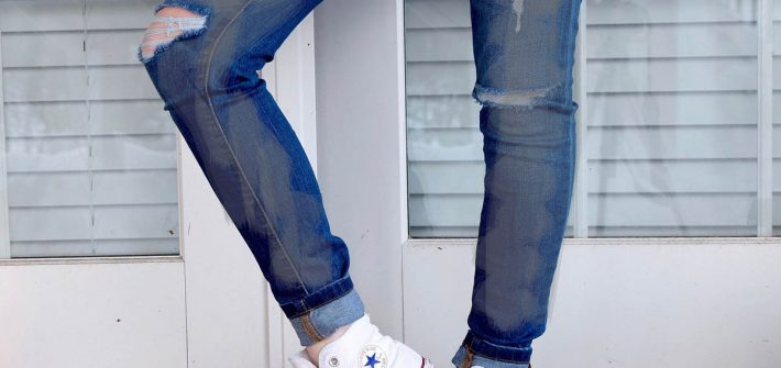 Silber Jeans Metallicjeans