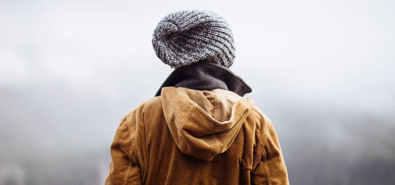 Cordjacke Mütze Männermode