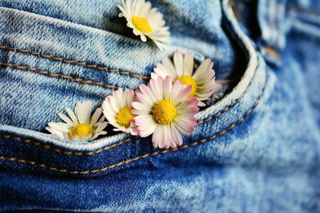 Gänseblümchen Hose Jeanshose