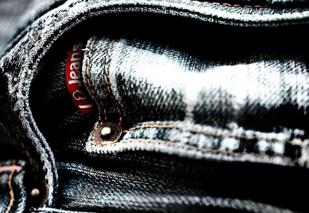 Jeanshose Denim Tasche