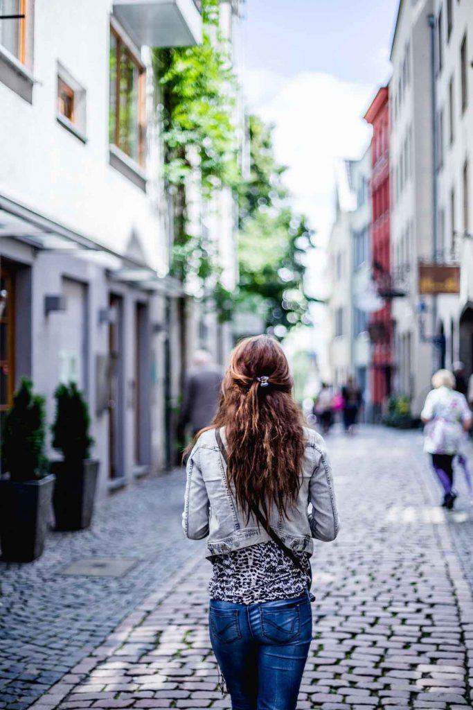 Jeans Straße Frau