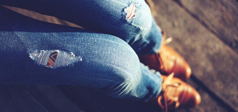 Zerrissene Jeans Destroyed Jeans