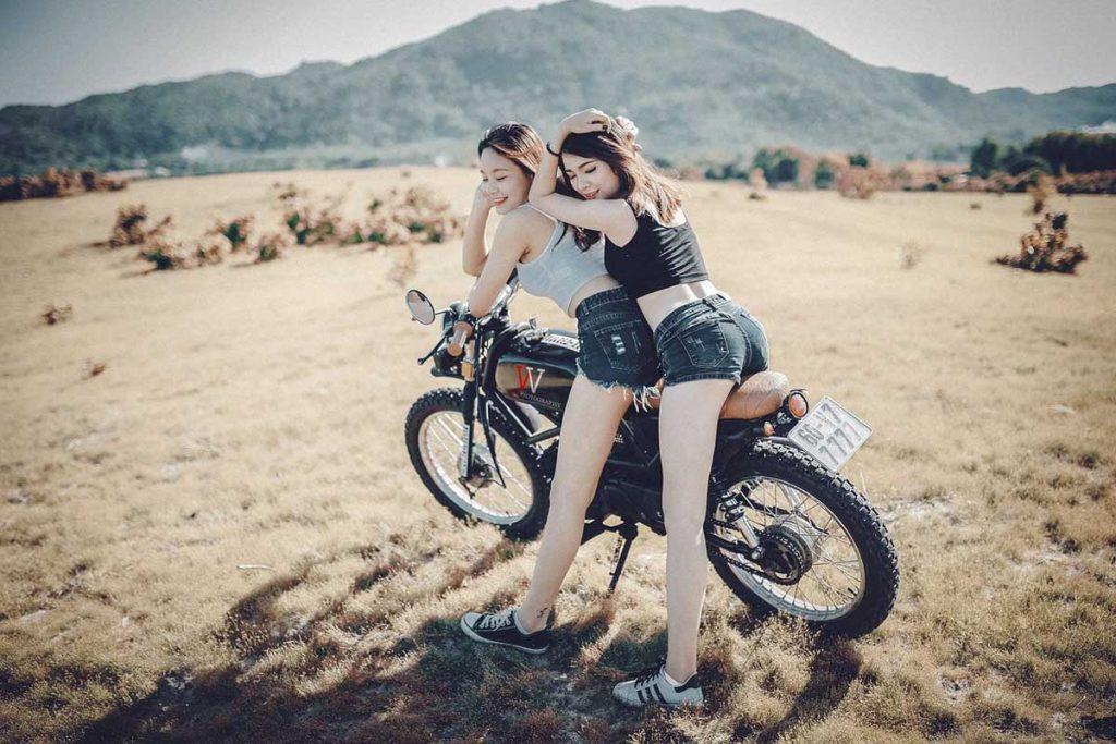 Motorrad Frauen Shorts