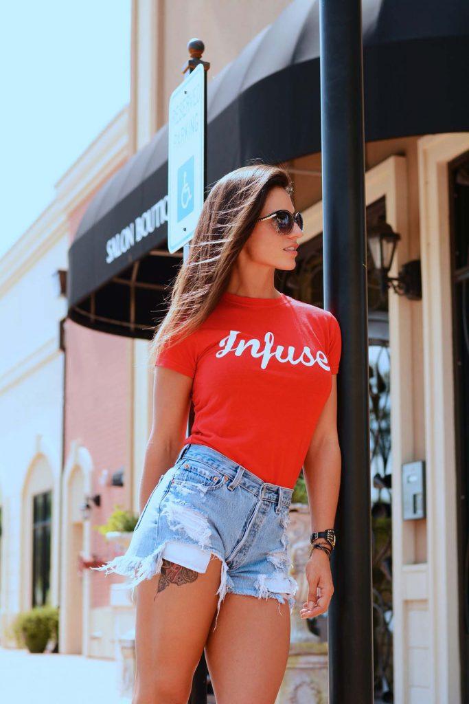 Printshirt Shorts Frau
