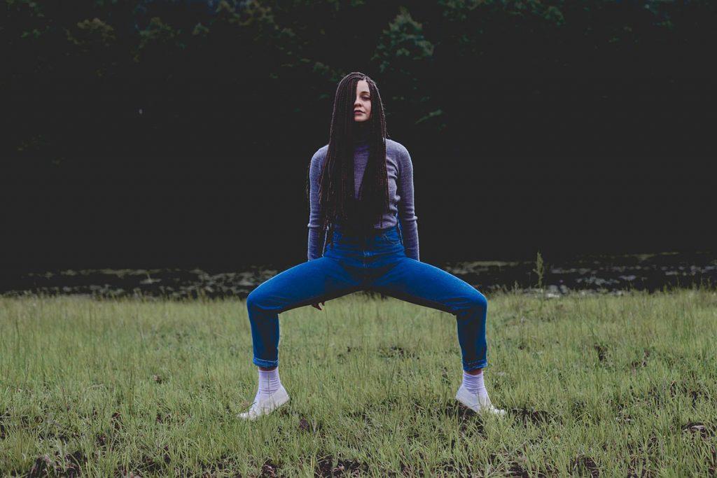 Cropped Jeans Rastazöpfe