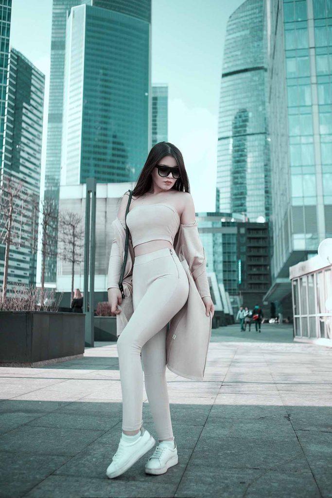 Jeanshose Beige Modetrend