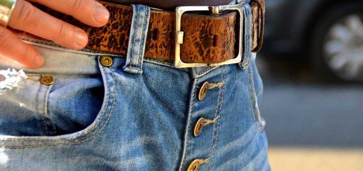 Gürtel Gürtelschlaufen Jeanshose Hosenknöpfe