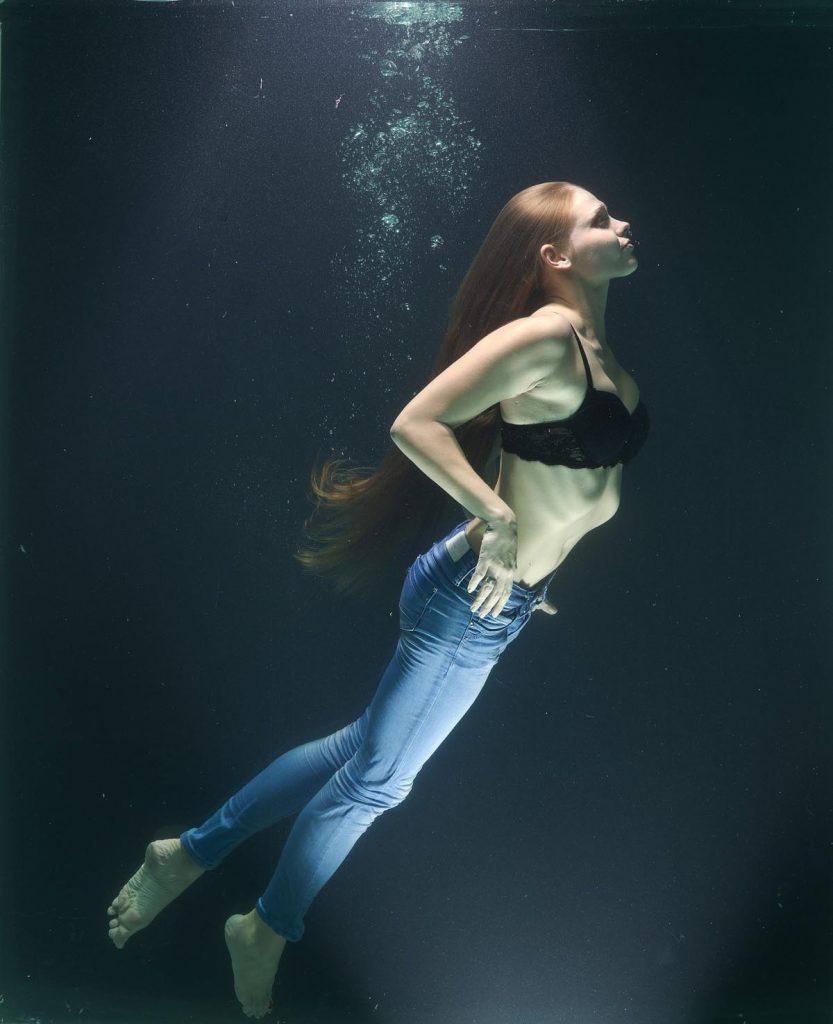 Jeanshose BH Unterwasser Frau