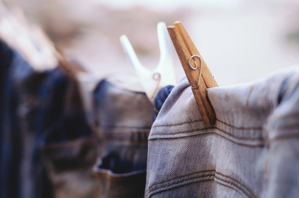 gebleichte jeans bleached denim