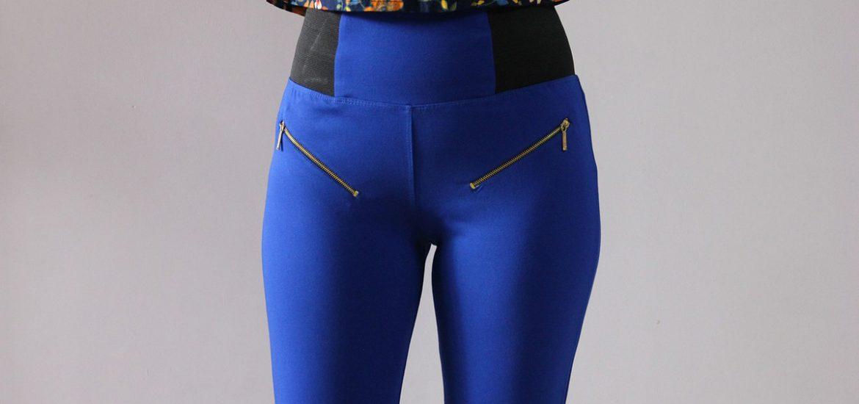 jeggings blau reißverschluss jeanshose