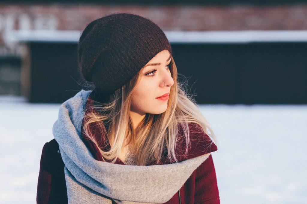 mütze schal winter mode