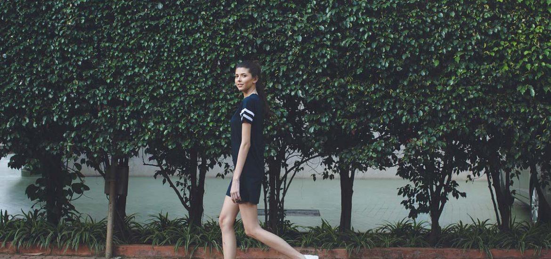 kleid sneaker skinny girl