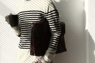 streifen pullover herrenhose aktenmappe
