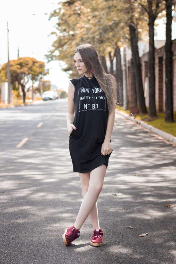 turnschuhe kleid shirt frau