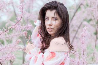 blumenprint bluse frau natur