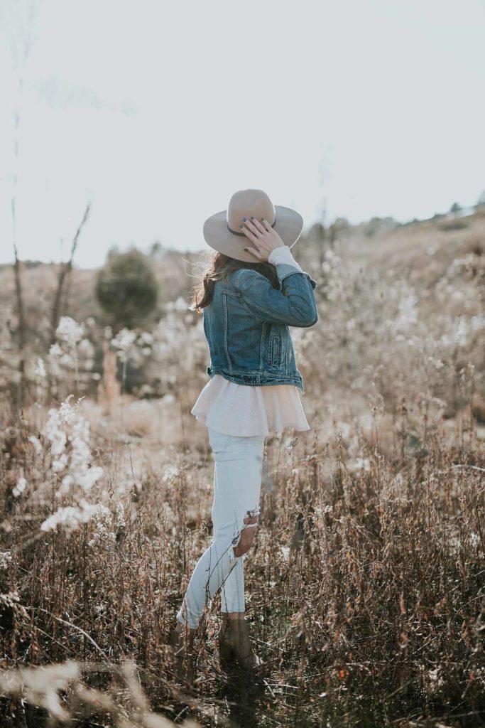 jeansjacke hut jeanshose top