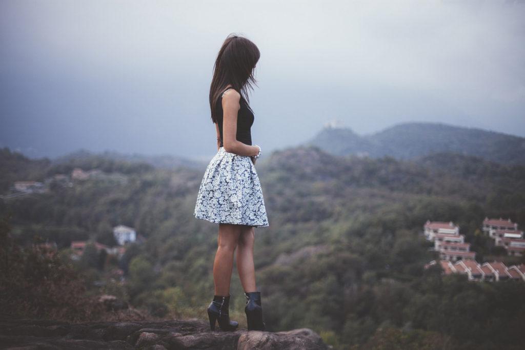 kleid schuhe frau berg