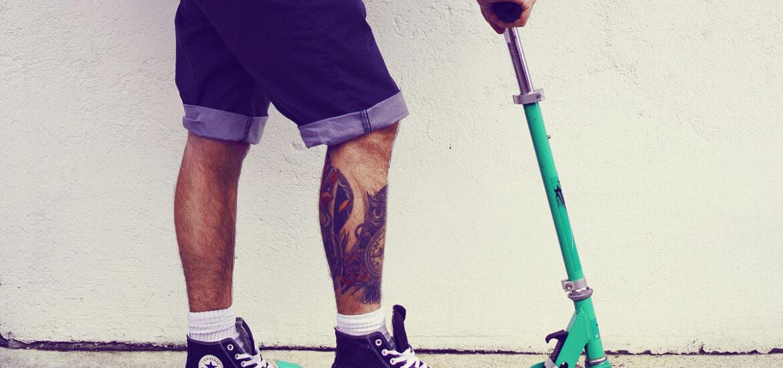 cityroller tattoo bermudas herrenshorts