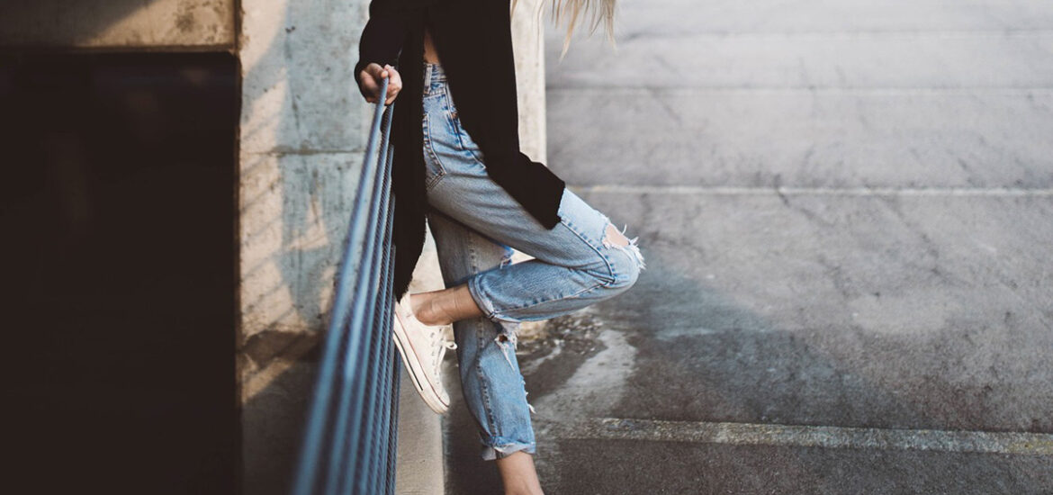cropped jeans high waist